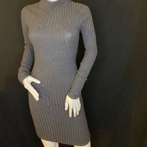 Dark Grey Body Con Dress